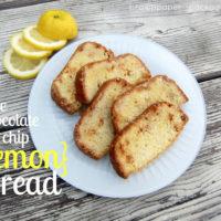 {white chocolate chip lemon bread}