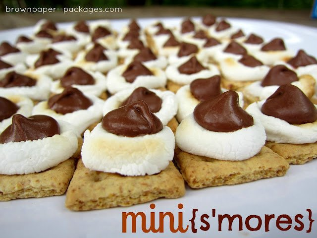 mini s'mores--brown paper packages