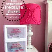 "Kids' Treasure Boxes:  Keeping Their ""Treasures"" Organized"