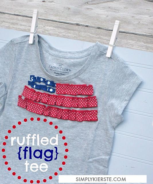 Ruffled Flag Tee |  simplykierste.com