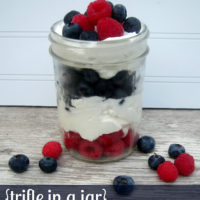 {trifle in a jar…berries with lemon cream}