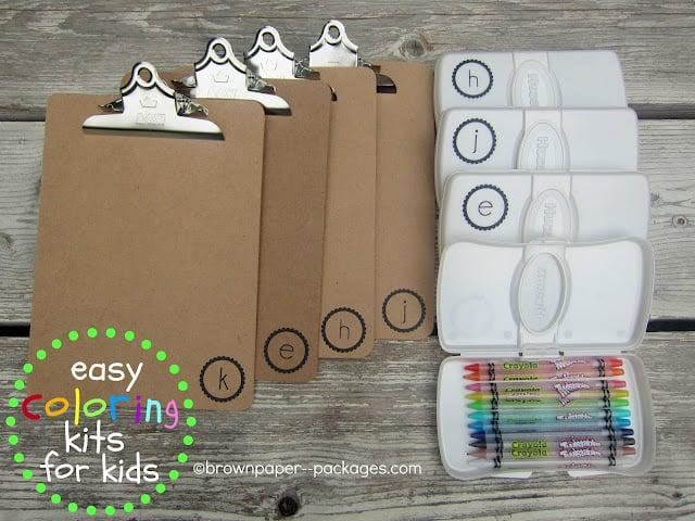 DIY Travel Coloring Kits for Kids