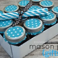 {mason jar drinking glass gift set}
