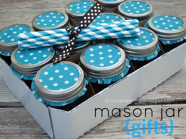 Mason Jar Drinking Glass Set
