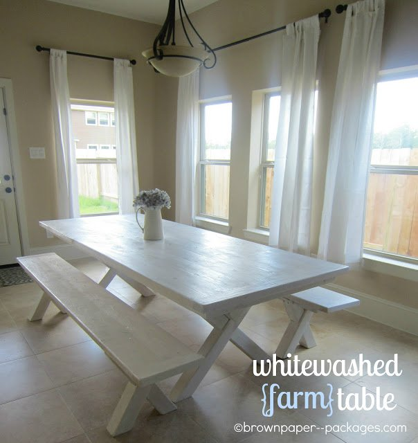 Whitewashed Farm Table A Tutorial Simplykierste Com