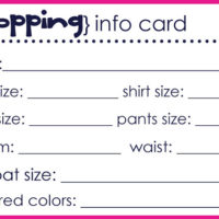 {shopping info cards}