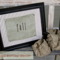 {framed burlap decor}