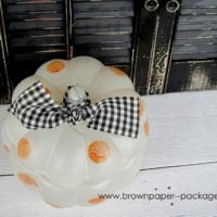 {polka dot glass pumpkin} featuring martha stewart glass paint