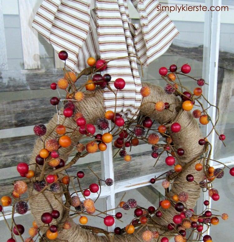 Twine & Berry Fall Wreath | simplykierste.com