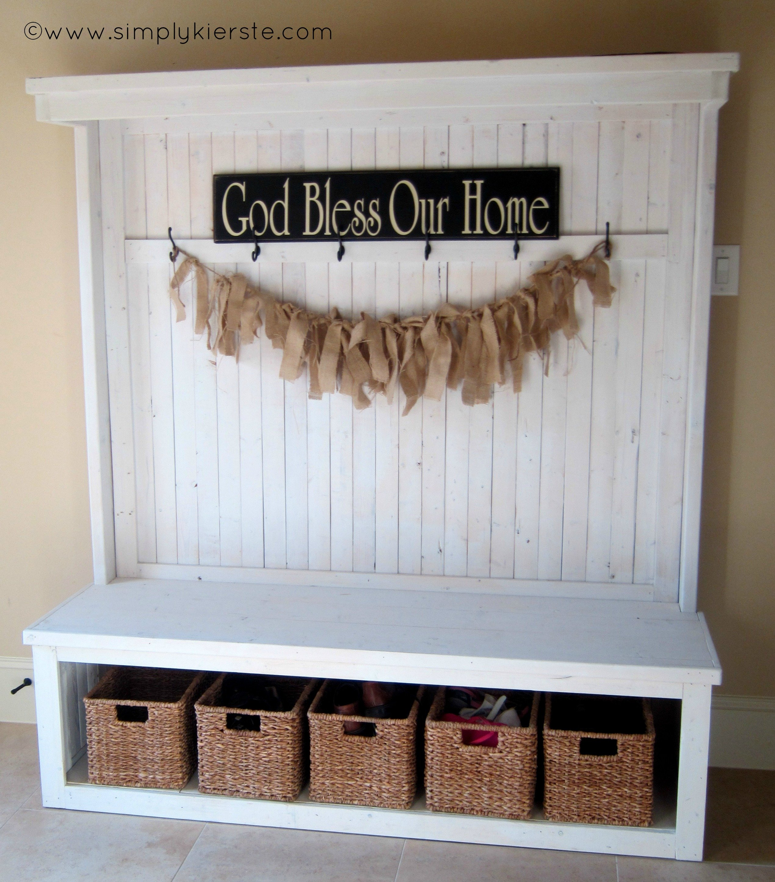 Front Entry Bench Simply Kierste Design Co