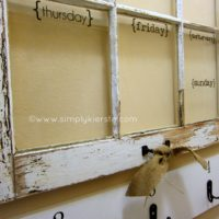 {an old window turned dry erase weekly calendar!}