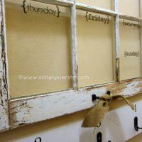 {an old window turned dry erase weekly calendar!}