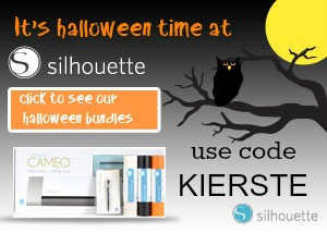 silhouette halloween button