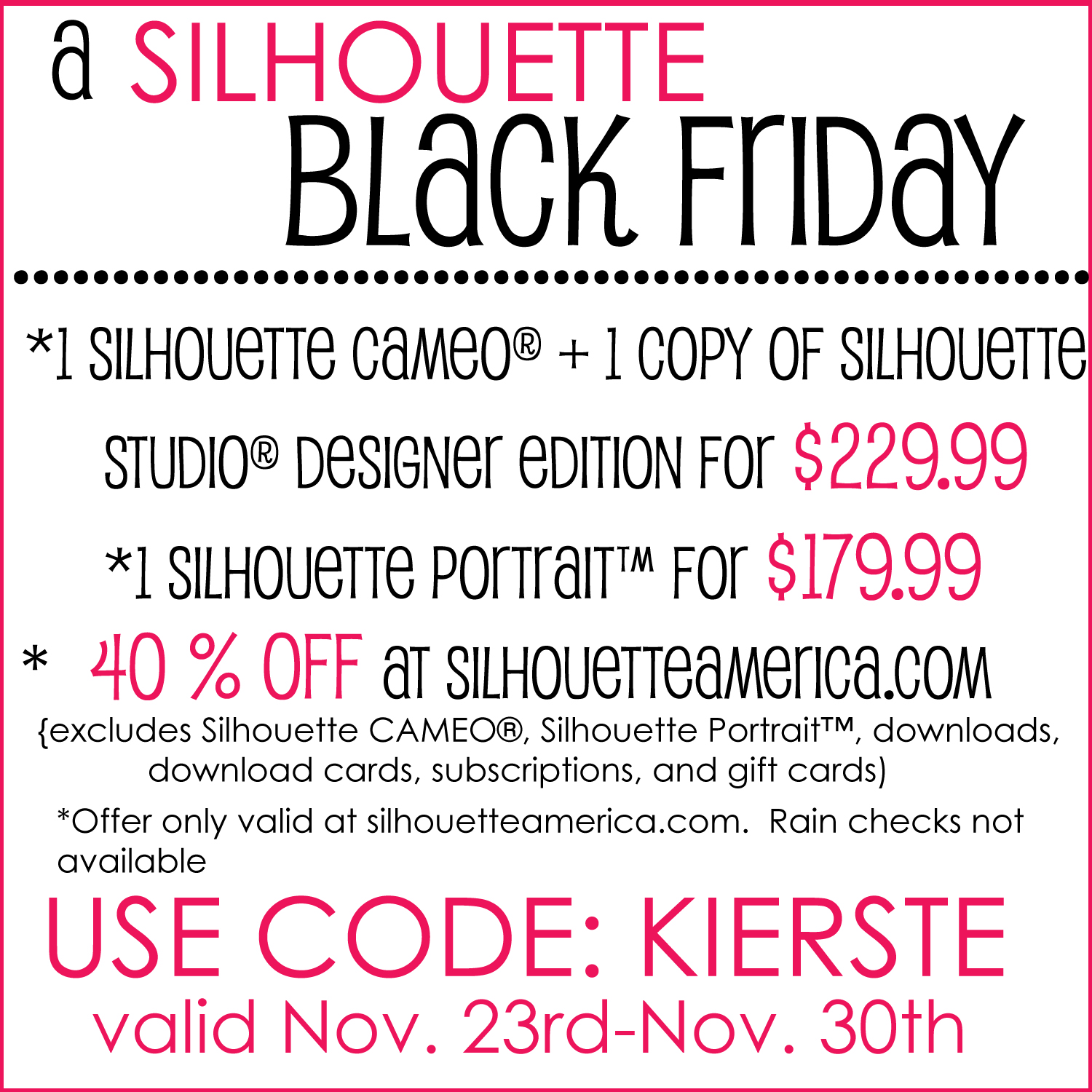 Black Friday 2012 Silhouette 2