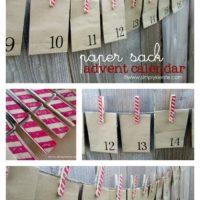 Paper Sack & Clothespin Advent Calendar