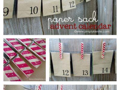 Paper Sack Advent Calendar | simplykierste.com