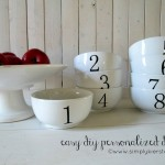 {diy personalized mugs & dishes} great gift idea!