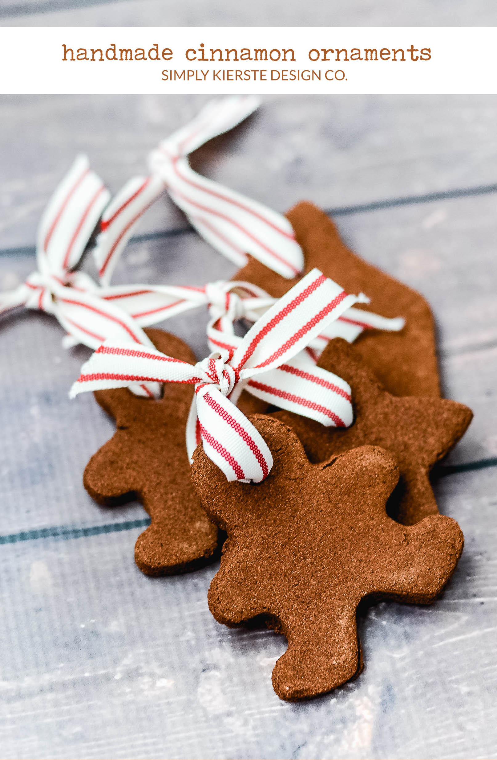 Easy Handmade Cinnamon Ornaments | Christmas Ornaments | simplykierste.com #handmadeornaments #diyornaments #easychristmasideas