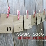 {paper sack & clothespin advent calendar}