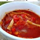 Crockpot Pizza Soup | simplykierste.com