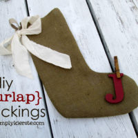 {diy burlap stockings with crap i've made}