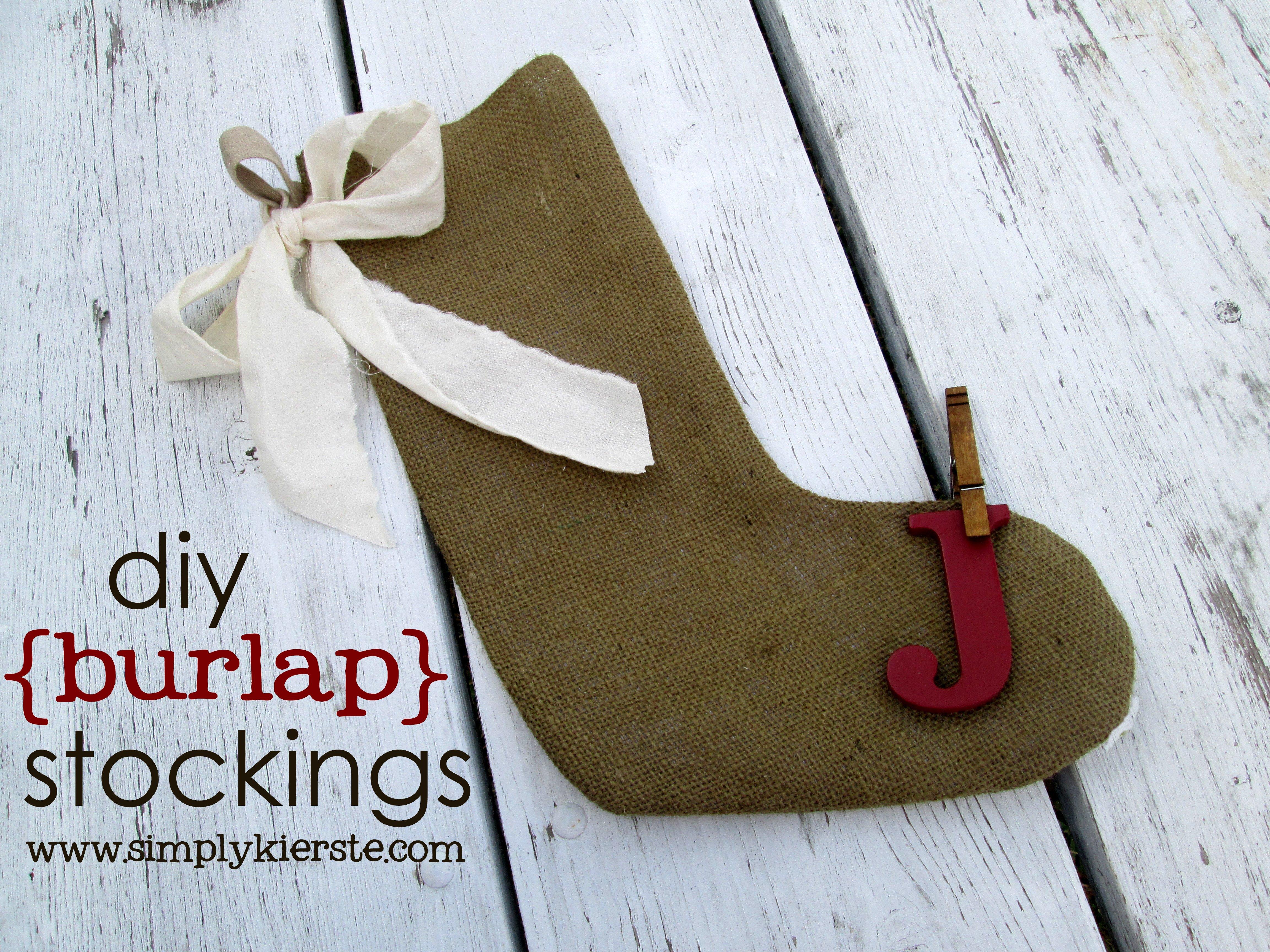 {diy burlap stockings with crap i've made}