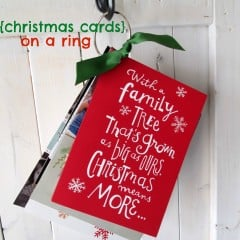 christmas cards on a ring title