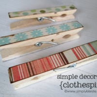 {simple decorated clothespins}