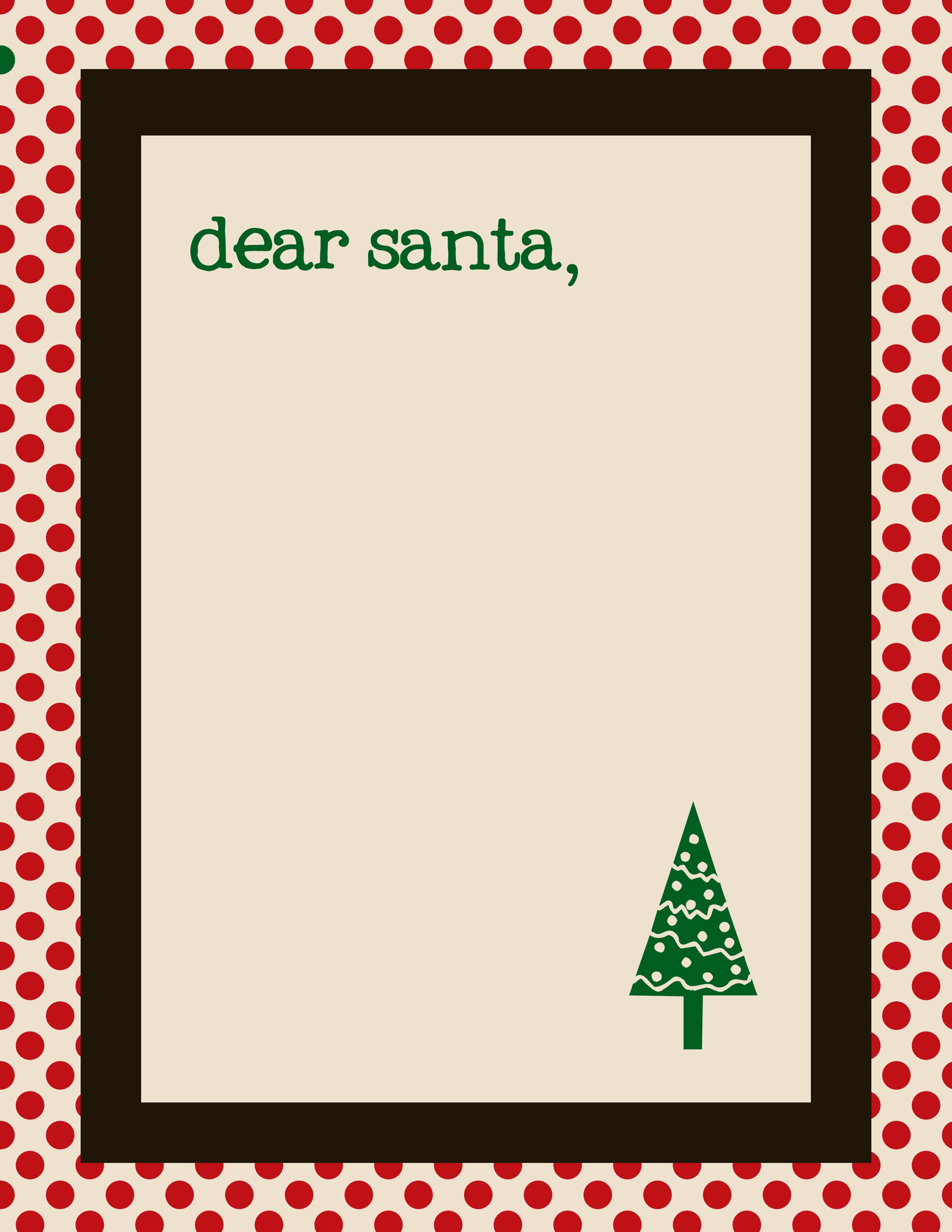 santa letter cream & red with green copy