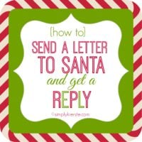 How to write letters to Santa and Get A Reply | simplykierste.com