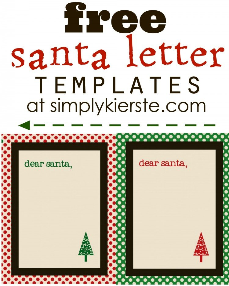 free santa letter templates simplykierstecom