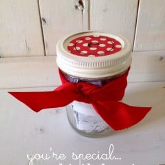 you're special birthday mason jar