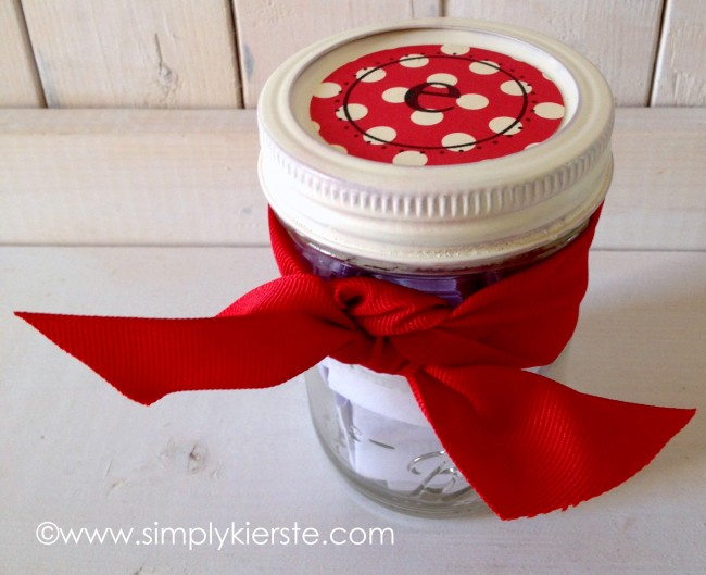 you're special birthday or anniversary mason jar