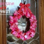 {valentine bow wreath}