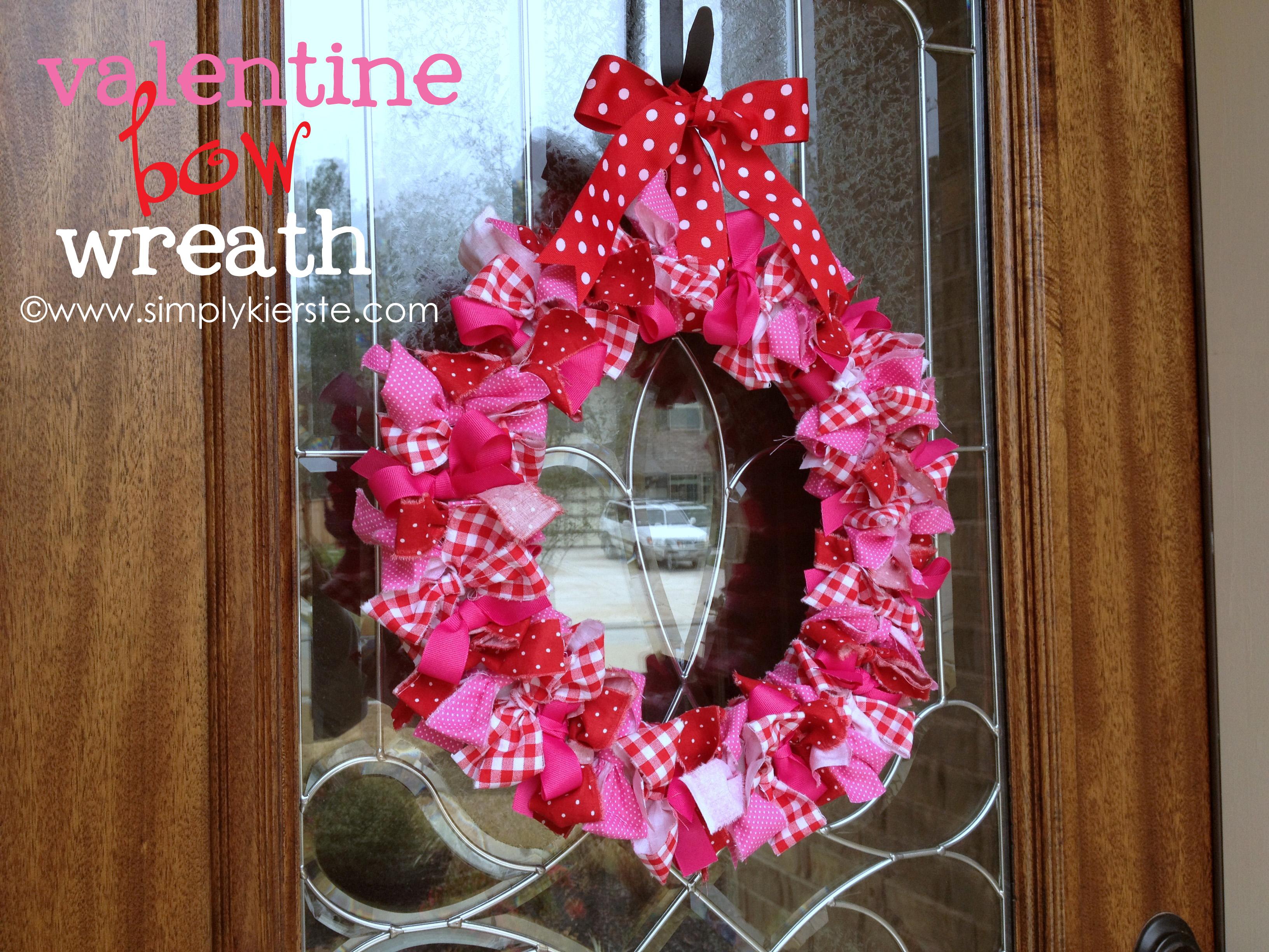 Valentine Bow Wreath