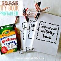 Dry Erase Activity Books