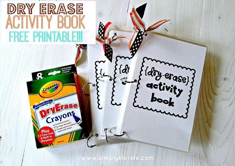 Dry Erase Activity Book for Kids