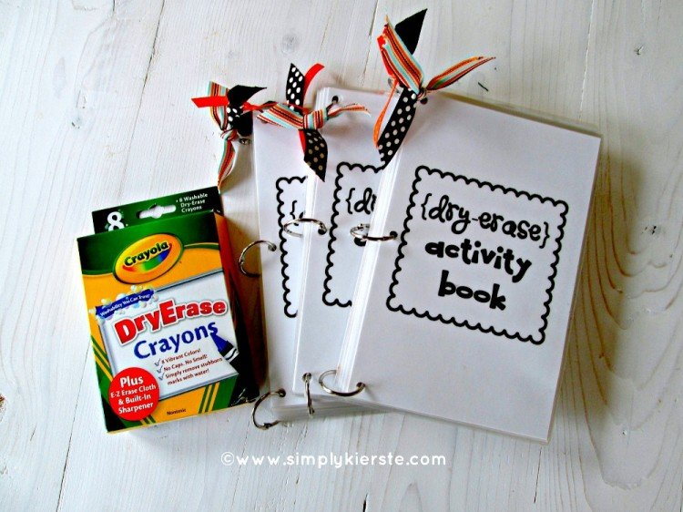 Dry Erase Activity Book | simplykierste.com