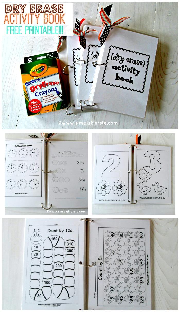 Dry Erase Activity Book | Free Printable | oldsaltfarm.com