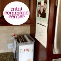 {mini kitchen command center}