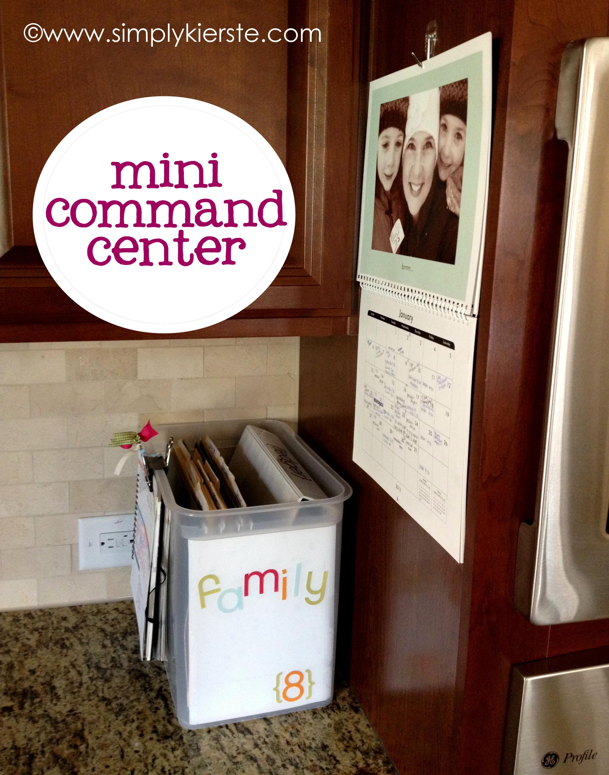 Mini Kitchen Command Center