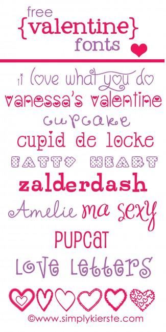 free valentine fonts | simplykierste.com