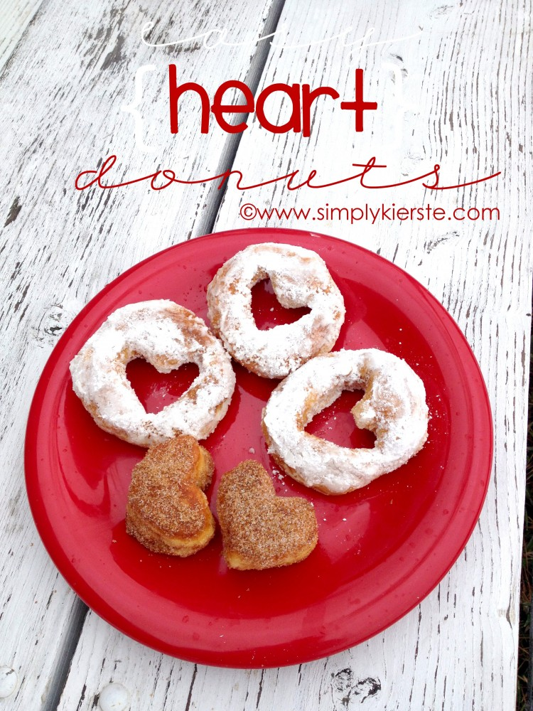 Easy Heart Donut | simplykierste.com