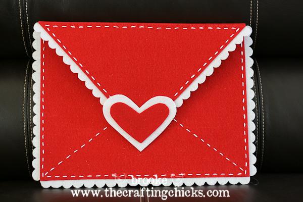felt valentine box