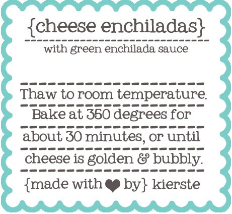 image about Printable Freezer Labels referred to as Freezer Dinner Labels Absolutely free Printables