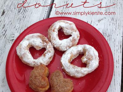 Easy Heart Donuts