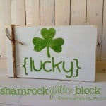 {shamrock glitter block} st. patrick's day decor!