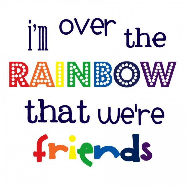 Over the Rainbow Free Printable