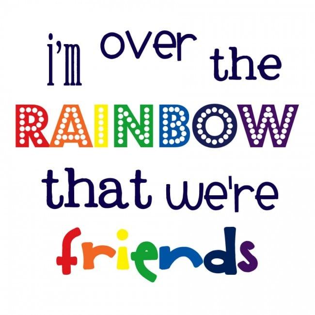 Over the Rainbow Free Printable