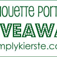 {silhouette portrait giveaway winner!}